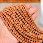 Natural Bodhi Beads Buddha Prayer 108 Loose Beads Set for Mala, Religion Charm, Spacer, Yoga Bead Bracelet, Necklace