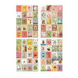 Vintage Paper Stickers (4 Sheets x 80 Pcs)