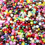 6mm Semi-Rounded Acrylic Imitation Pearls (300 Pcs)