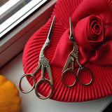 Golden Sewing Scissors (2 Pcs)