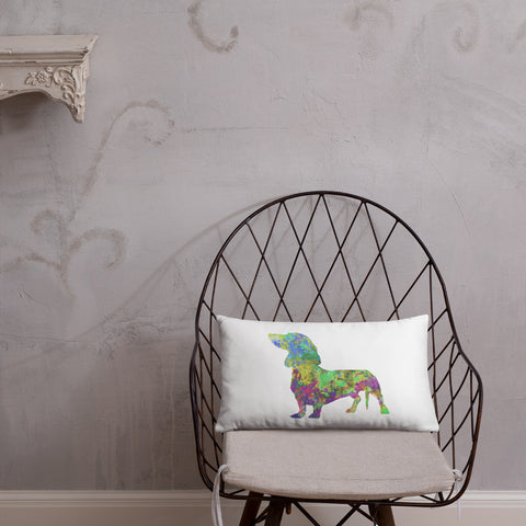 Dachshund Art Pillow