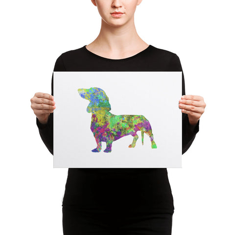 Dachshund Art Canvas Print