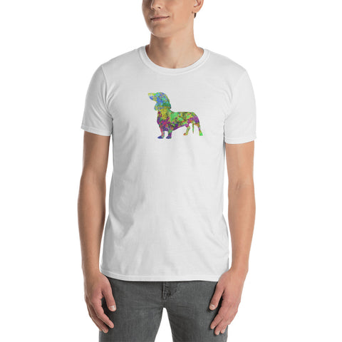 Dachshund Art Short-Sleeve Unisex T-Shirt. Men, Women T shirt.