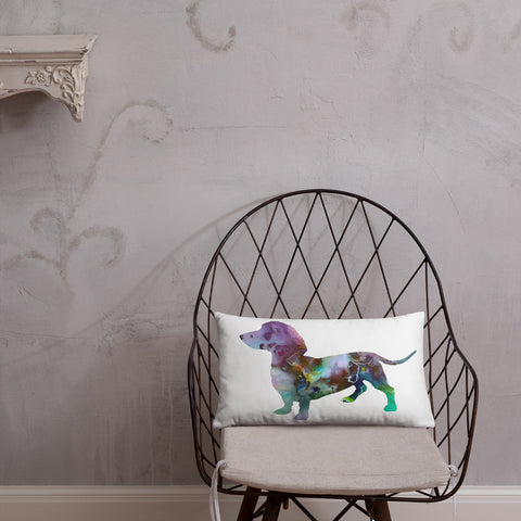 Dachshund Art Throw Pillow Soft Polyester (Pillow only)