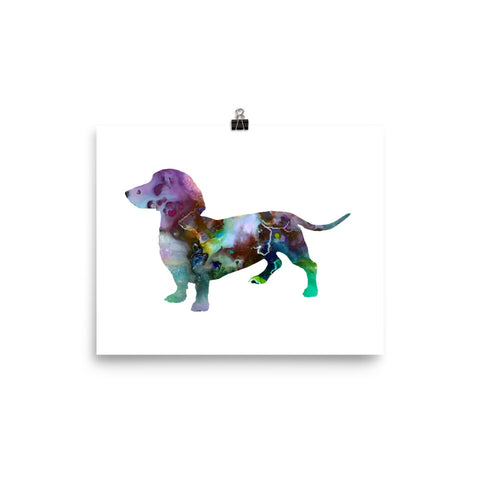 Dachshund Art Print Poster Watercolor Painting Home Decor, Art Decor