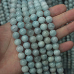 Natural Aquamarine Stone Beads Gem Beads Loose Beads For DIY Jewelry Making 6mm-11mm Strand 15""