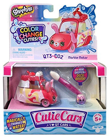 Shopkins Cutie Cars Series 3 Color Change Cuties QT3-C02 Marble Motor