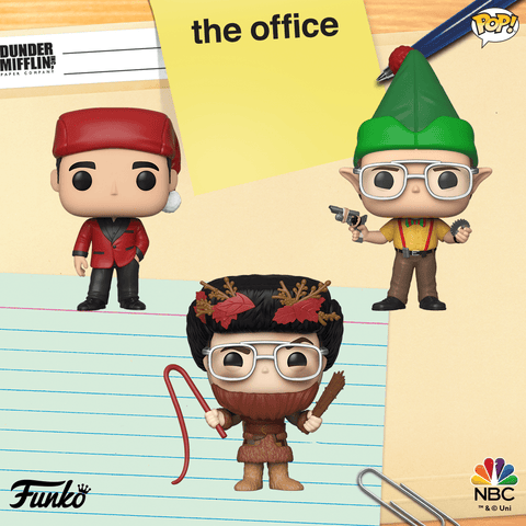 The Office Holiday Funko Pops