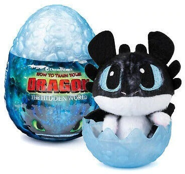 """How To Train Your Dragon The Hidden World Baby Hookfang Dragon 3/"""" Plush in Egg"""