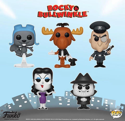 Rocky and Bullwinkle Funko Pops
