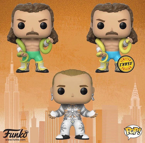 Shawn Michaels , Jake The Snake Roberts WWE Funko Pop Bundle with CHASE