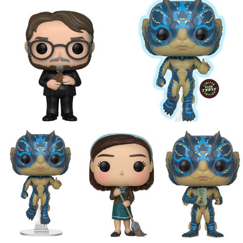 The Shape Of Water Funko Pop BUNDLE with CHASE