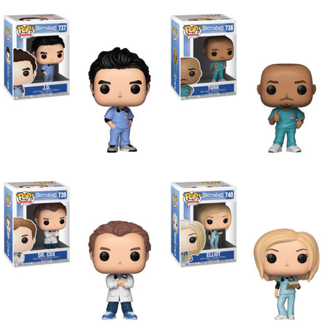 Scrubs Funko Pop BUNDLE