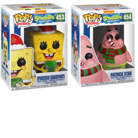 SpongeBob Holiday Funko Pop BUNDLE