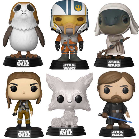 Star Wars The Last Jedi WAVE 2 Funko Pop BUNDLE