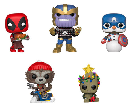 Marvel Holiday 2019 Funko Pops