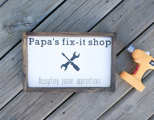 Papa's Fix It Shop