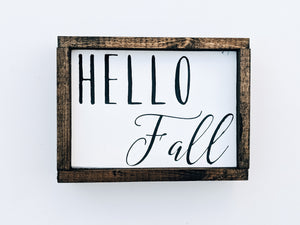 Mini Hello Fall