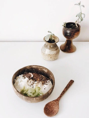 COCONUT BOWL AND SPOON