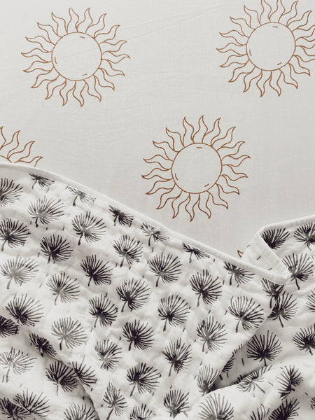 SUN FITTED COT SHEET