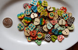 Buttons - 5 Each Hearts Tools And Notions