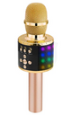 BONAOK Bling Crystal Wireless Bluetooth Karaoke Microphone Home Party Karaoke Speaker Machine