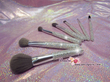 Makeup Brushes & Holder Bedazzled with Rhinestones / Swarovski  Blusher