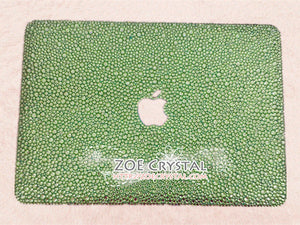 Macbook Peridot/Light Green Crystal Case
