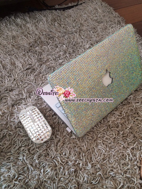 MACBOOK Case / Cover Bedazzled Bling in Sparkly Shinny Glitter Crystal Rhinestone size SS20(5mm) Sparkly Kylie Jenner Kim Kardashian