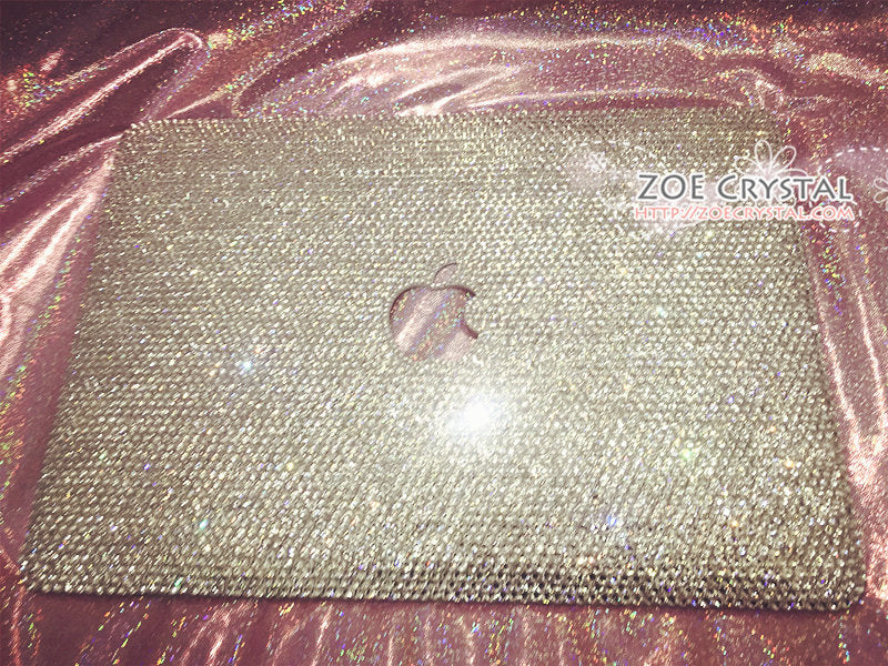 MACBOOK Case / Cover CELEB Kim Kardashian Kylie Jenner Silver Crystal Rhinestone (Air / Pro) Glitter Sparkly Shinny Diamond