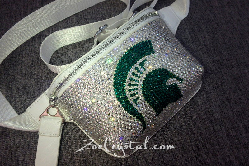 BELT BAG in Swarovski Rhinestones BLING with Your Favorite Nba Nfl  Mlb Logo : Fanny Pack, Waist Bag, Hip Bag, Travel Pouch, Hands Free Bag