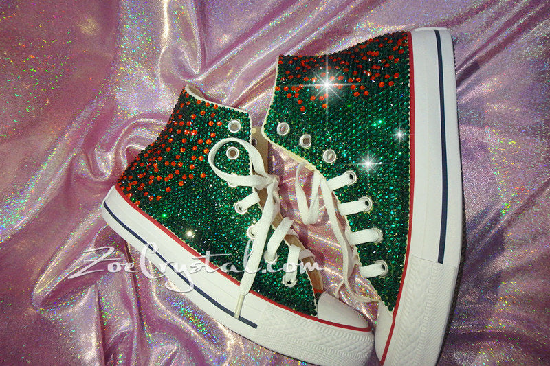 Customize Your Wedding Converse Chuck Taylor All Star SNEAKERS with Shinning and bling Rhinestones CRYSTALS Wedding, Party, Prom