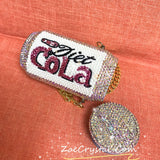 Fashionable and Bling Diet Cola Clutch - Bridal / Bridesmaid / Wedding Clutch / Evening bag - wedding prom festival fashion party