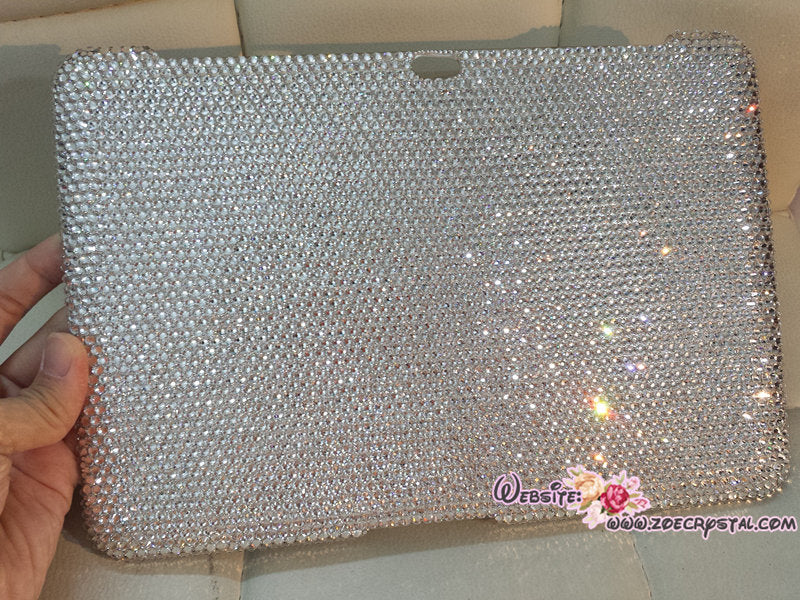 Bedazzled Bling iPAD CASE / Cover with Clear white   Swarovski or Czech crystal (iPad air, iPad pro, iPad mini are available)Strass Sparkly