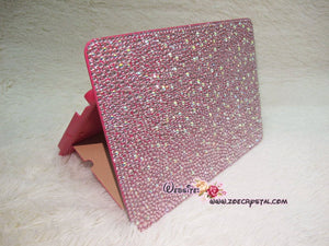 Bedazzled Bling  iPAD CASE Cover with Light Pink Swarovski or Czech crystal (iPad air, iPad pro, iPad mini are available) Add Name Logo Word