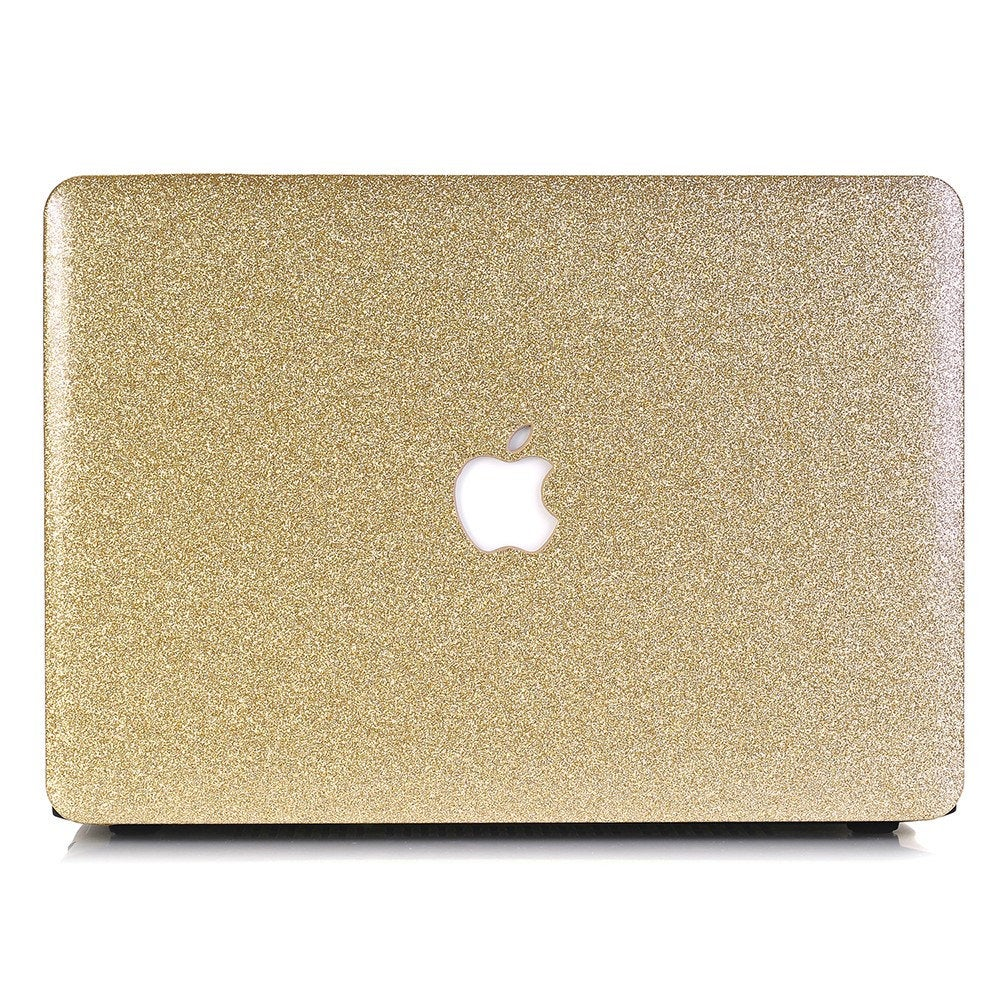 "Glitter MACBOOK Case / Cover Air Pro Bedazzled Bling 11"" 12"" 13"" 15"" 16"" Light Gold Sparkly Shinny Bejeweled Bedazzled Bling Stylish"