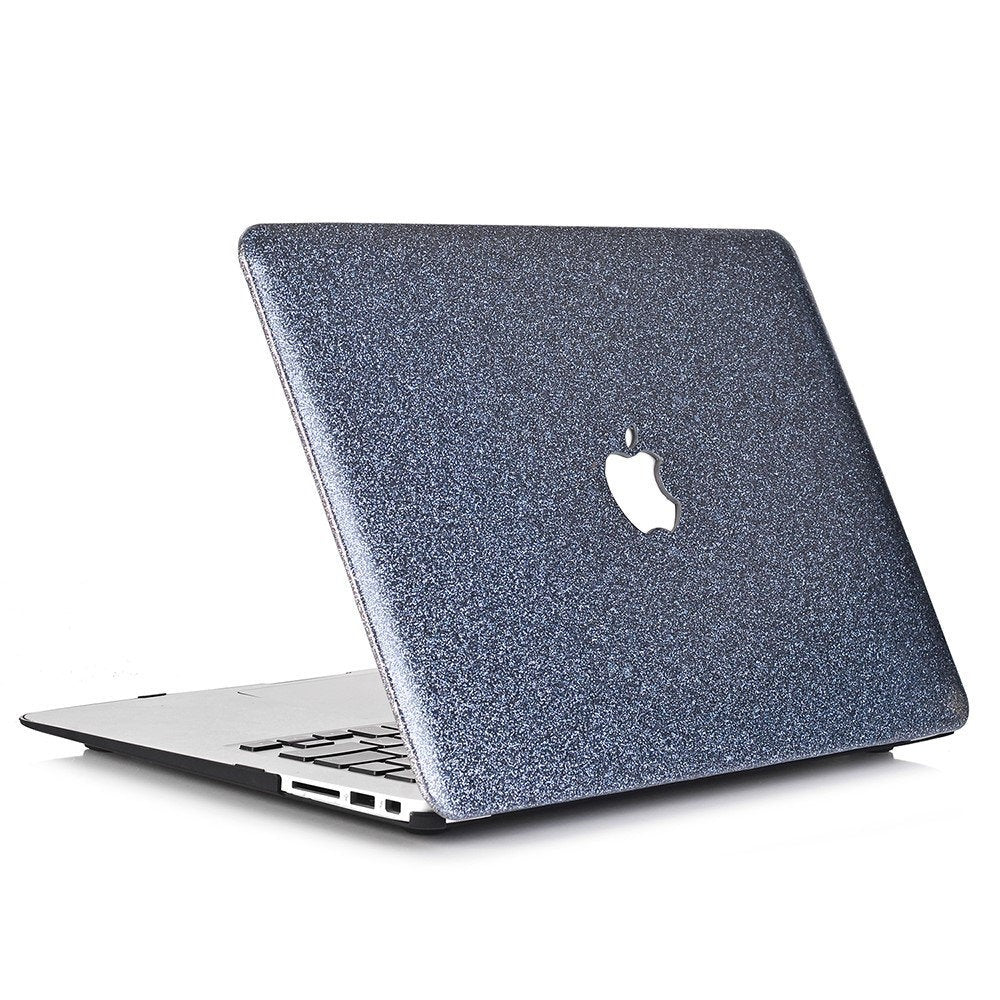 "Glitter MACBOOK Case / Cover Air Pro Bedazzled Bling 11"" 12"" 13"" 15"" 16"" Grayish Blue Sparkly Shinny Bejeweled Bedazzled Bling Stylish"