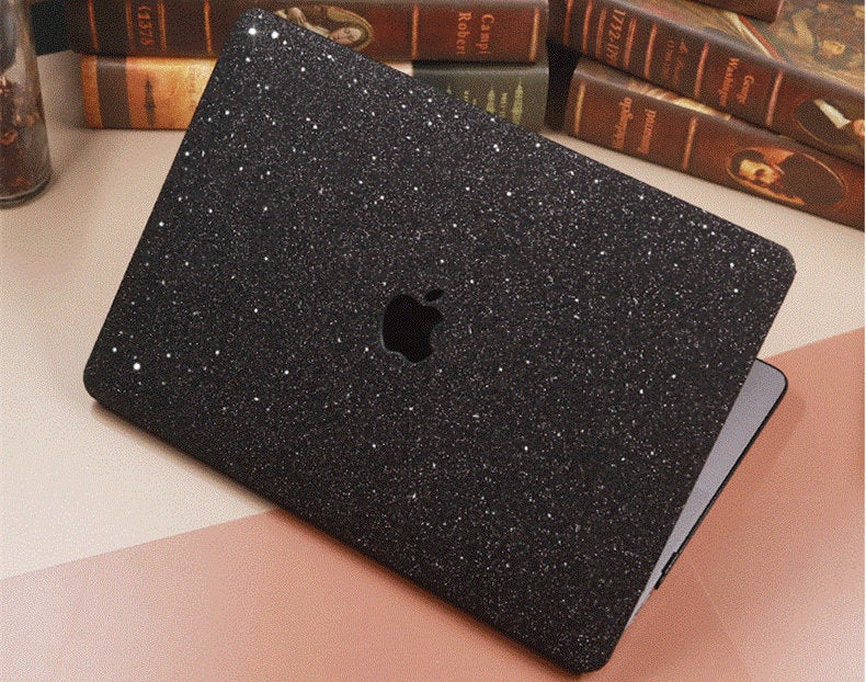 "Glitter MACBOOK Case Cover Air Pro Bedazzled Bling 11"" 12"" 13"" 15"" 16"" Black Sparkly Shinny Bejeweled Bling Stylish Strass Elegant Luxurious"