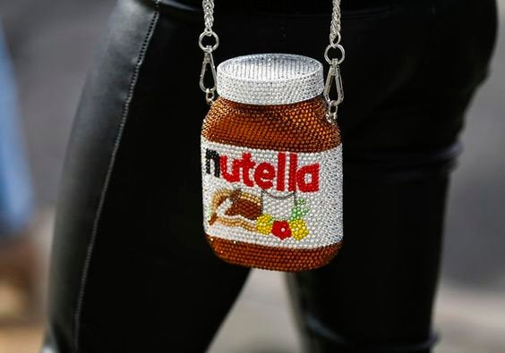 Fashionable and Nutella Clutch - Bridal / Bridesmaid / Wedding Clutch / Evening bag - wedding prom festival fashion party
