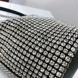 Fashionable Bling Purse - Celebrity Stylish Fashion Handbag Pouch with Bedazzled Crystal Rhinestone for wedding prom festival fashion party