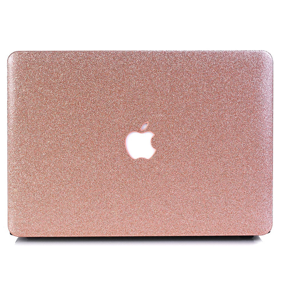 "Glitter MACBOOK Case / Cover Air Pro Bedazzled Bling 11"" 12"" 13"" 15"" 16"" Light Rose Gold Sparkly Shinny Bejeweled Bedazzled Bling Stylish"