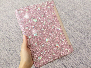 Bedazzled Bling iPAD Pro CASE Cover w Light Pink Swarovski / Czech crystal (iPad air, iPad pro, iPad mini are available) Add Name Logo Word