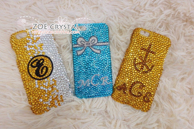 Customize your iPhone Samsung Phone Case Cover w Bling Bedazzled Sparkly Shinny Strass Glittery Embellished Swarovski Crystal Rhinestone