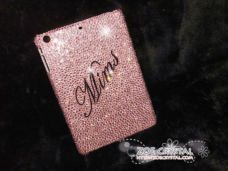 Stylish and Bedazzled Baby Pink IPAD Pro Mini Air CASE with Bling Sparkly Swarovski or Czech Crystal Rhinestones (Ipad Pro are available)