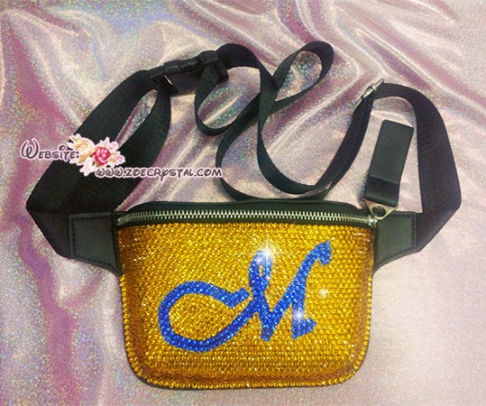 Bling BELT BAG with Bedazzled Crystal Rhinestone for Fashion and Chill : Fanny Pack, Hip Bag, Travel Pouch, Hands Free Bag, Boho, Waist Bag