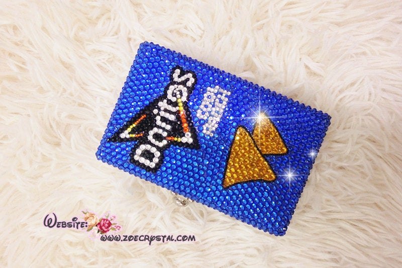 Bling and Bedazzeld Evening Bag or Clutch with Doritos made with Sparkly Crystal Rhinestones Suitable for Party, Wedding, Festival or Prom
