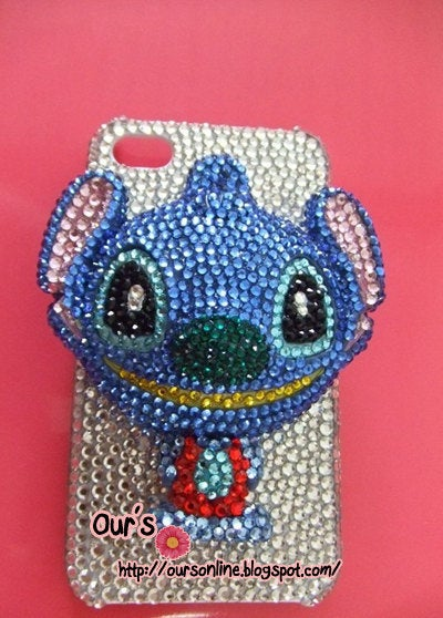 Charity SWAROVSKI 3D Crystal Bling Mario Totoro Ultraman cow  IPhone case