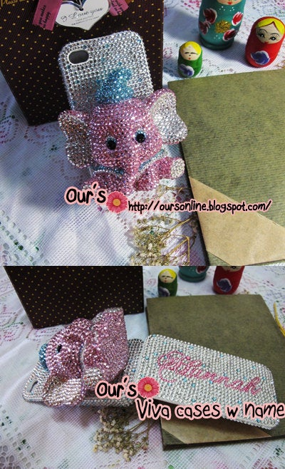 Czech/ Swarovski 3D Elephant  Bling Bedazzled Rhinestone Glitter Shinning Sparkling Crystal Phone Case / Cover