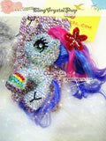 Czech/ Swarovski My Little Pony or Unicorn BLING Crystal 3D Cell Phone Case