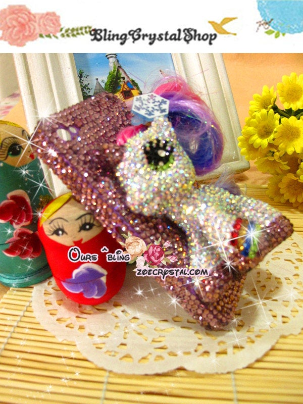 Czech/ Swarovski My Little Pony BLING Crystal 3D Cell Phone Case